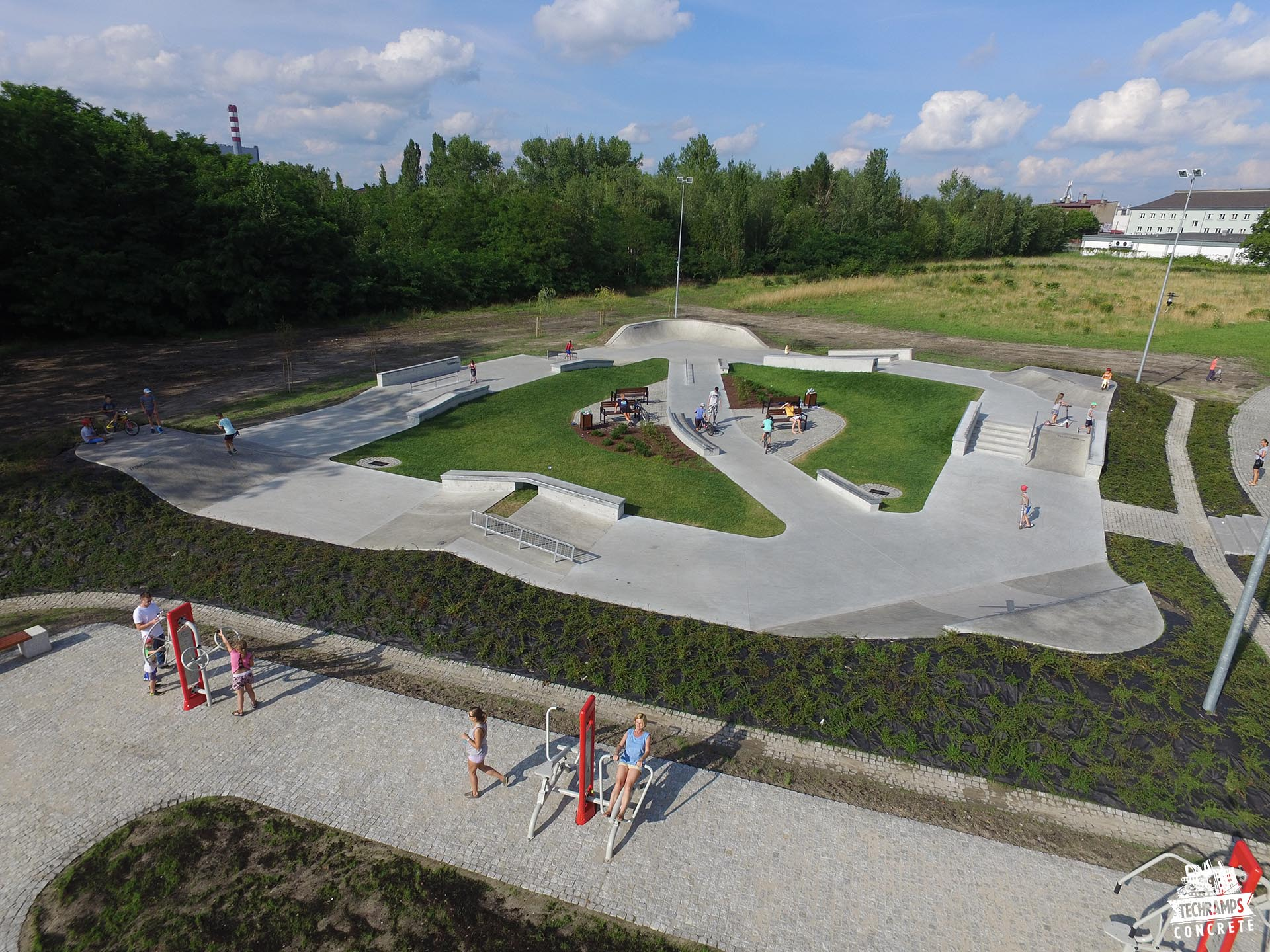 skatepark chorzow betonowy