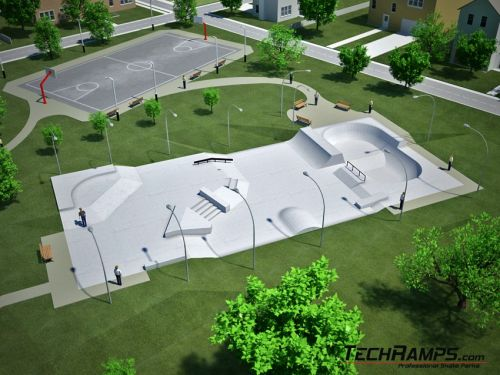 Пример бетонски скејтпарк бр. 020510
