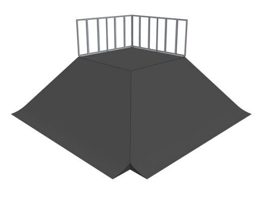 2x Bank ramp 90deg pyramid