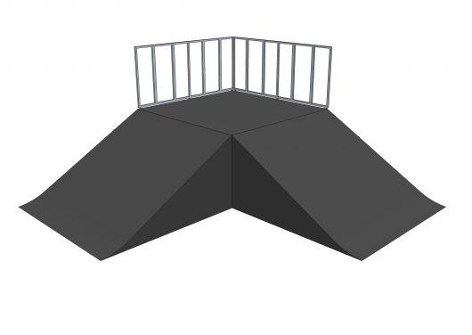 2x Bank ramp 90st