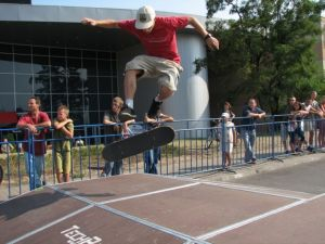 360 flip skatepark