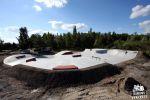 Betonowy skatepark w Trzebieży