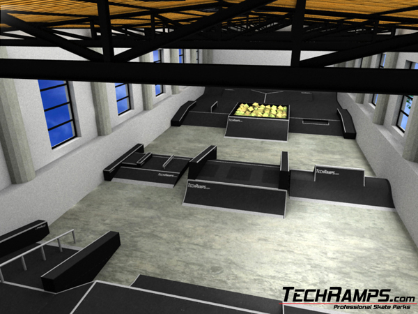 Image gallery indoor skate park design for Indoor skatepark design uk
