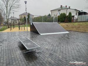 Bench and Bank ramp Skatepark Szczebrzeszyn