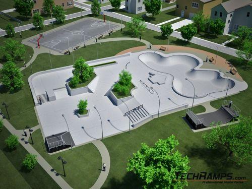 Betonowy skatepark - przykład 010510