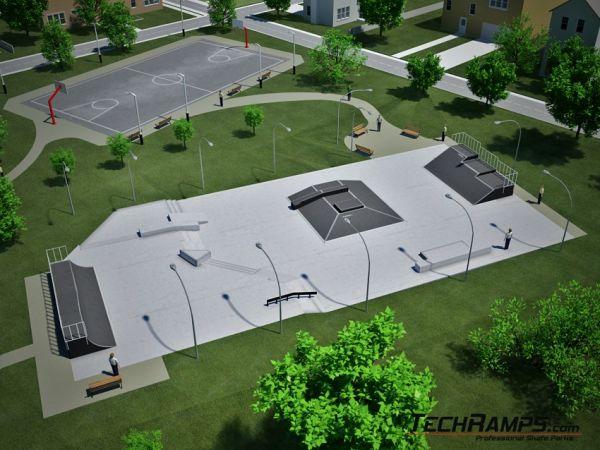 Betonowy skatepark - przykład 030510