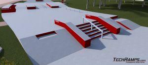 Betonowy skatepark w Kielcach - wizualizacja 1