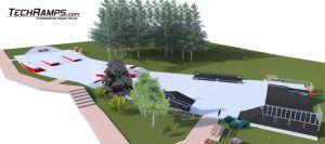 Betonowy skatepark w Kielcach - wizualizacja 2