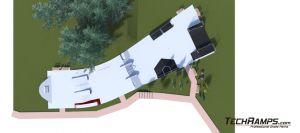 Betonowy skatepark w Kielcach - wizualizacja 3