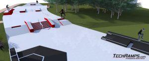 Betonowy skatepark w Kielcach - wizualizacja 4