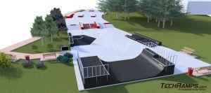 Betonowy skatepark w Kielcach - wizualizacja 5