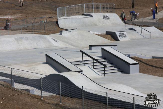 Betonowy skatepark w Olkuszu