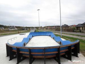 Composite pumptrack in Bilcza