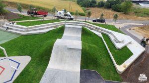 Concrete skatepark in Świecie
