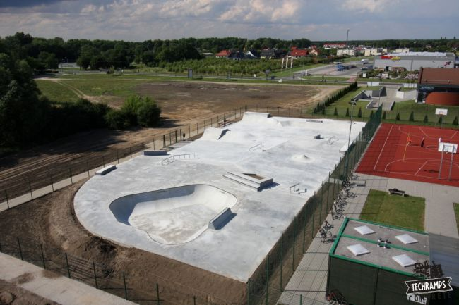 Concrete skatepark in Wolsztyn