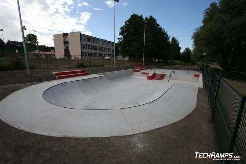 Concrete skatepark on Radzionkow