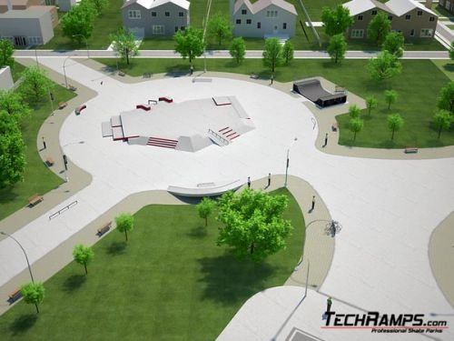 Concrete skateplaza - example no 460910