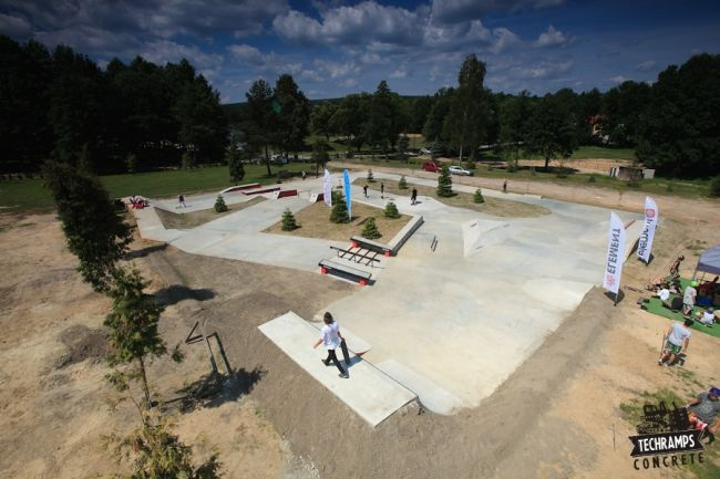 Concrete Skateplaza for the Woodcamp 2013