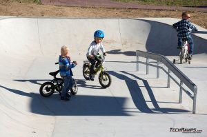 Concrete surface and obstacles on skateparku in Maniowy