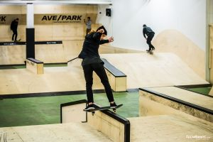 First riders in AvePark skatepark
