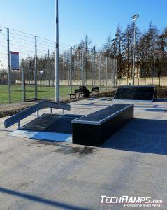 Funbox with grindboxem, skatepark Szamotuly
