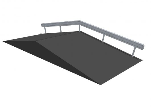 Funbox with rail