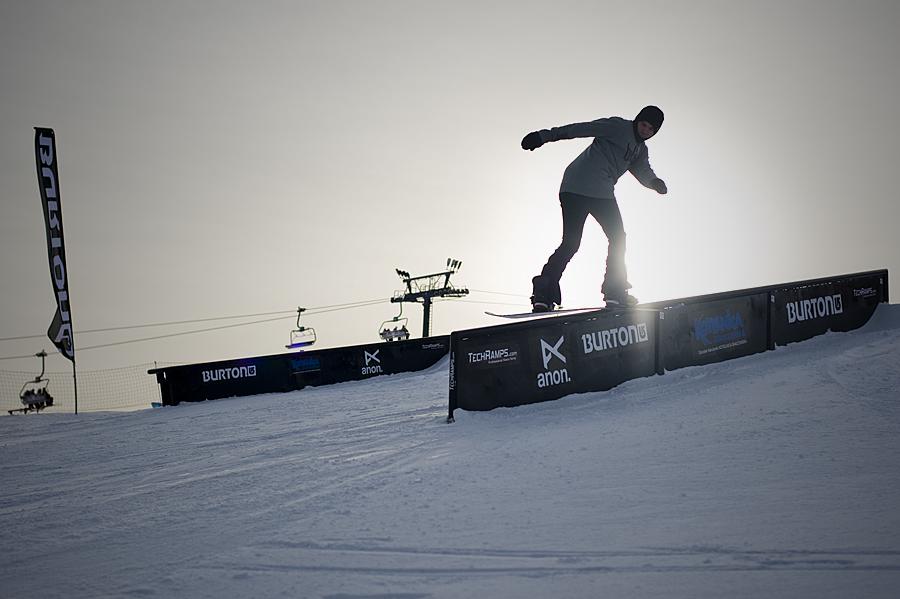 Przeszkody jibbowe - mini snowpark w Białce Tatrzańskiej