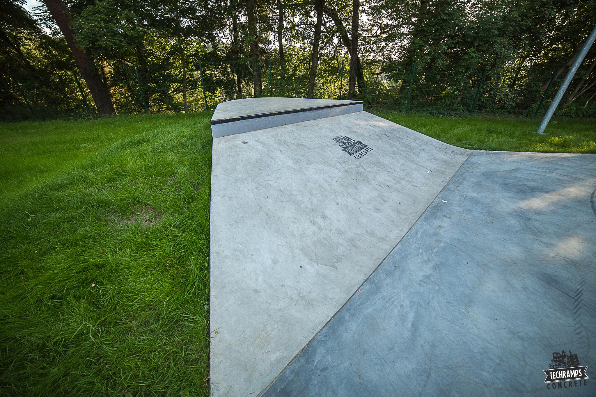 Skatepark betonowy Techramps - Rabka Zdrój