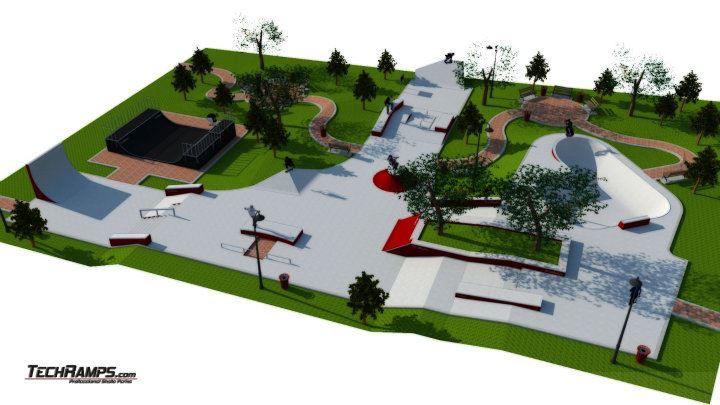 Skateplaza Mistrzejowice - wizualizacja