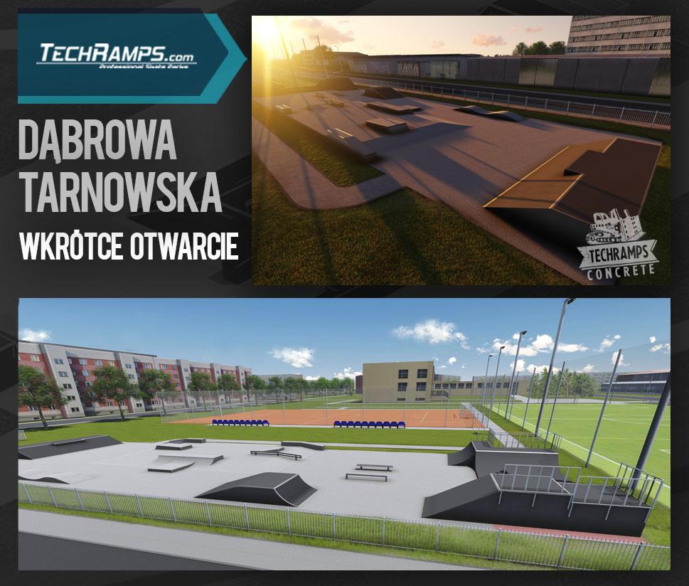 Wizualizacja skateparku Techramps - Dąbrowa Tarnowska