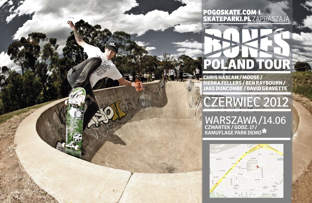 Bones Poland Tour - Skatepark Kamuflage