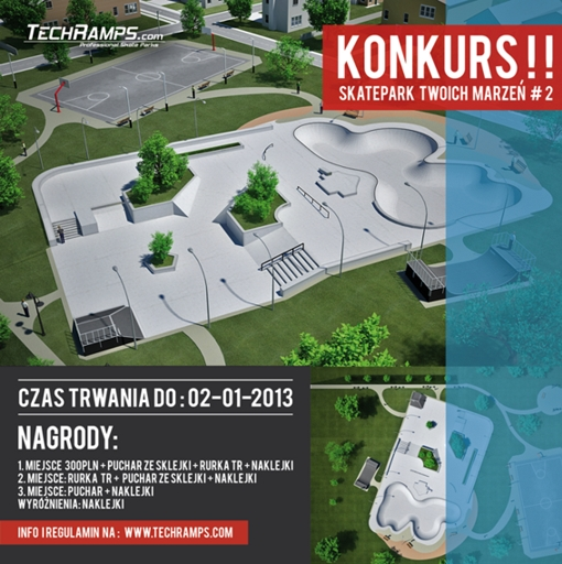 Konkurs Skatepark Twoich Marzeń Techramps