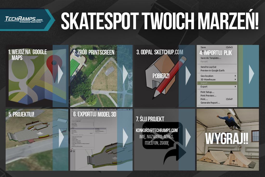 Zasady konkursu - Skatespot Twoich Marzeń Techramps