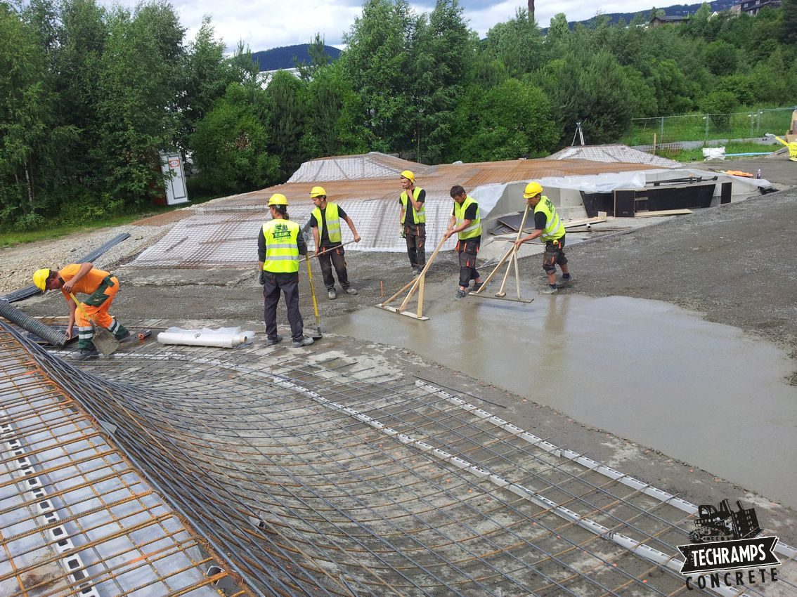 Skatepark in Lillehammer - construction