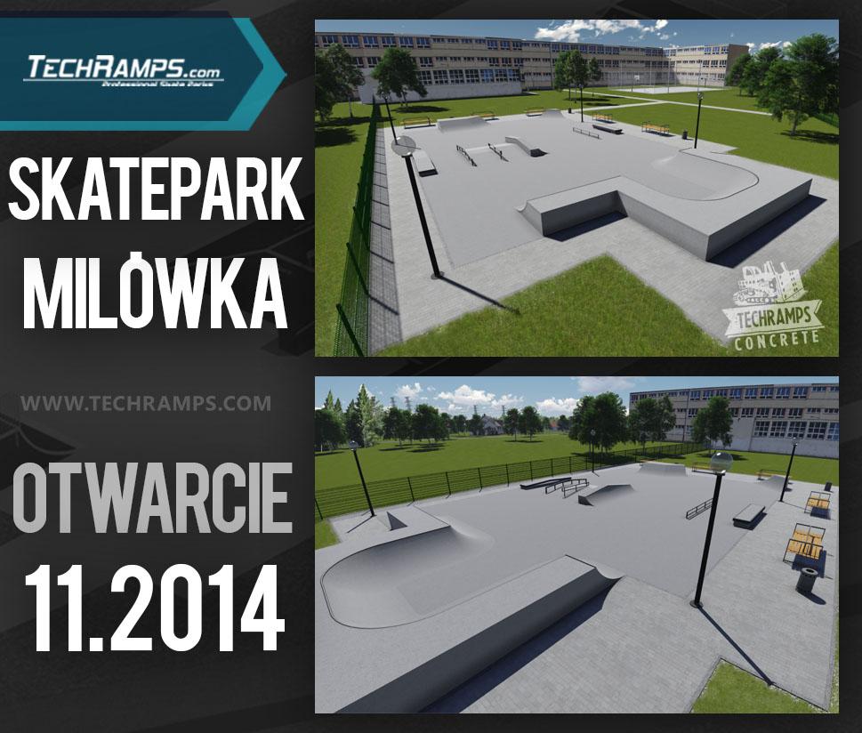 Koncepcja skateparku Techramps - Milówka