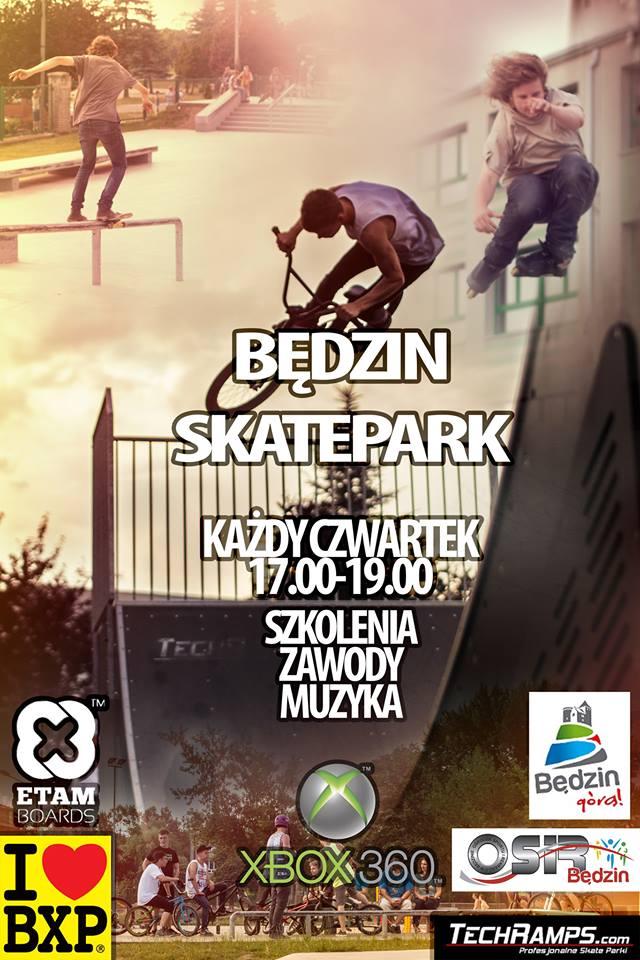Skatepark Techramps w Będzinie - zawody, szkolenia