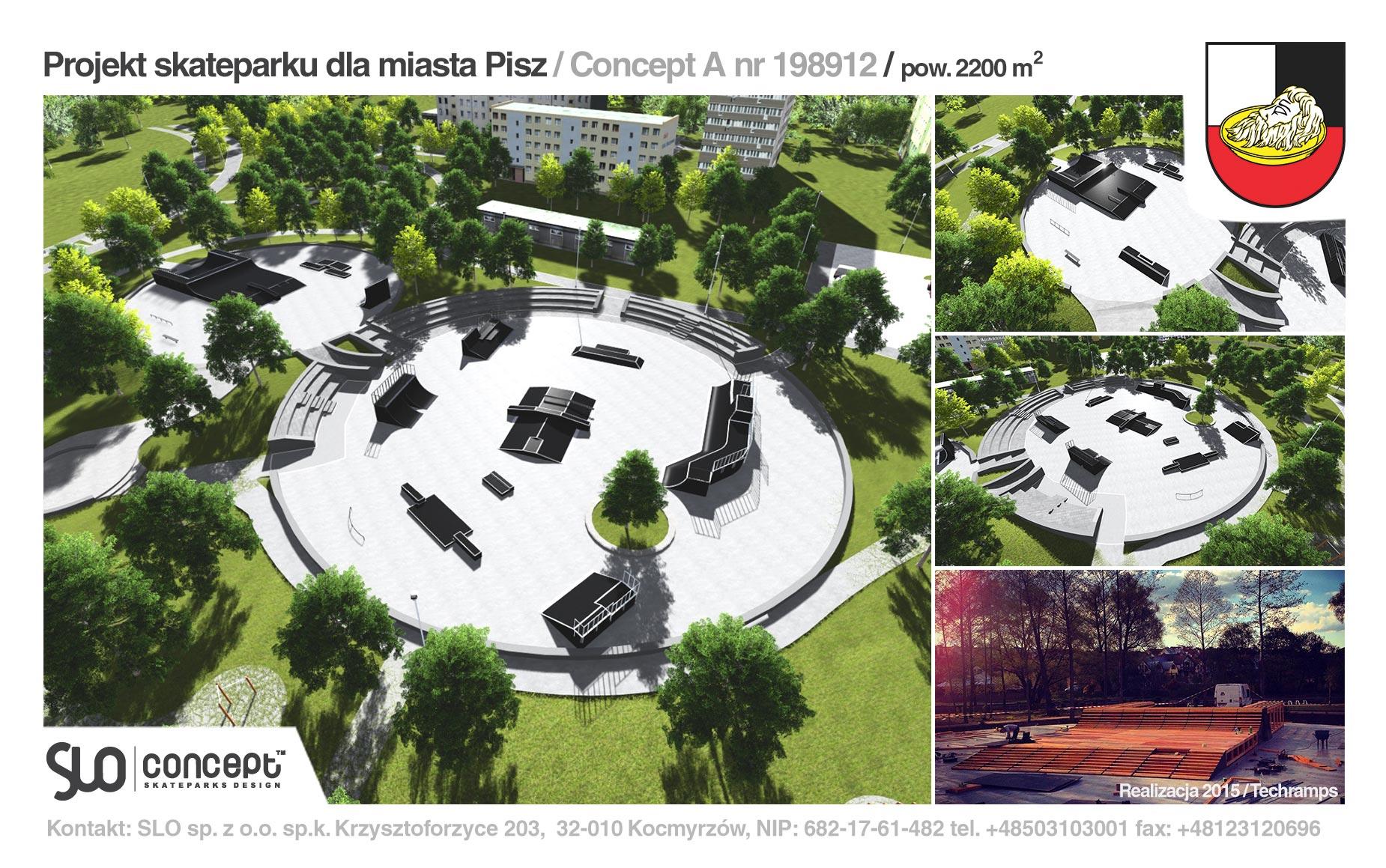 Projekt koncepcyjny skateparku w Piszu
