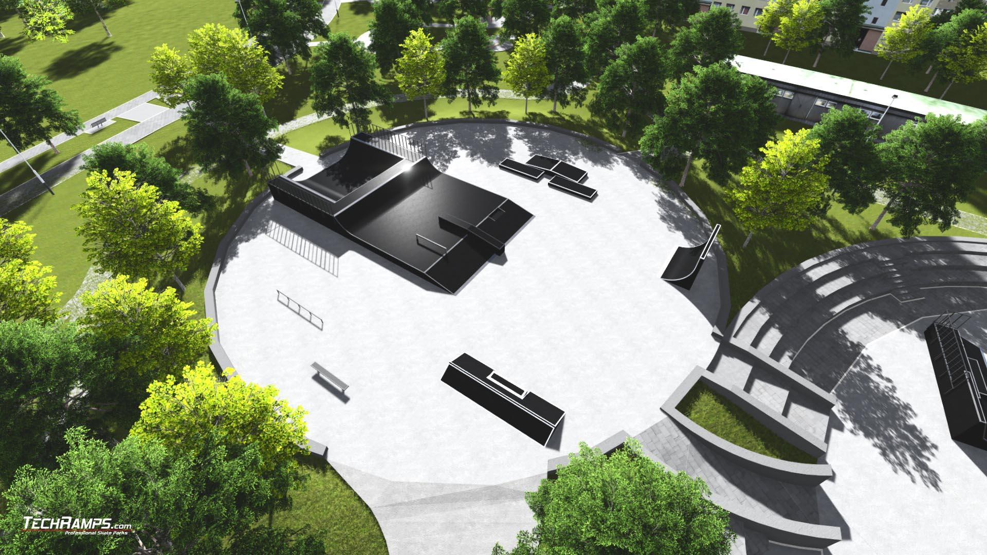Projekt skateparku w Piszu