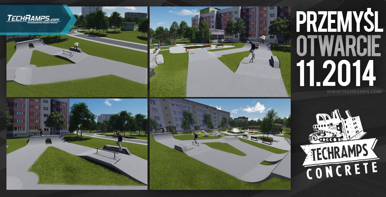 Wizualizacja skateparku - Przemyśl Techramps