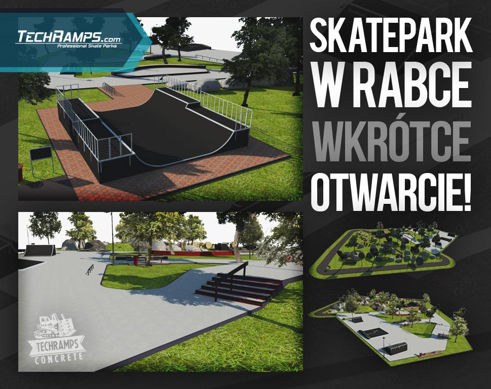 Wizualizacja projektu skateparku - Rabka Zdrój
