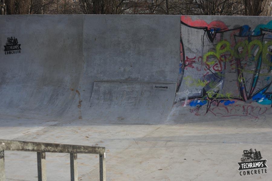 Skatepark betonowy w Mistrzejowicach