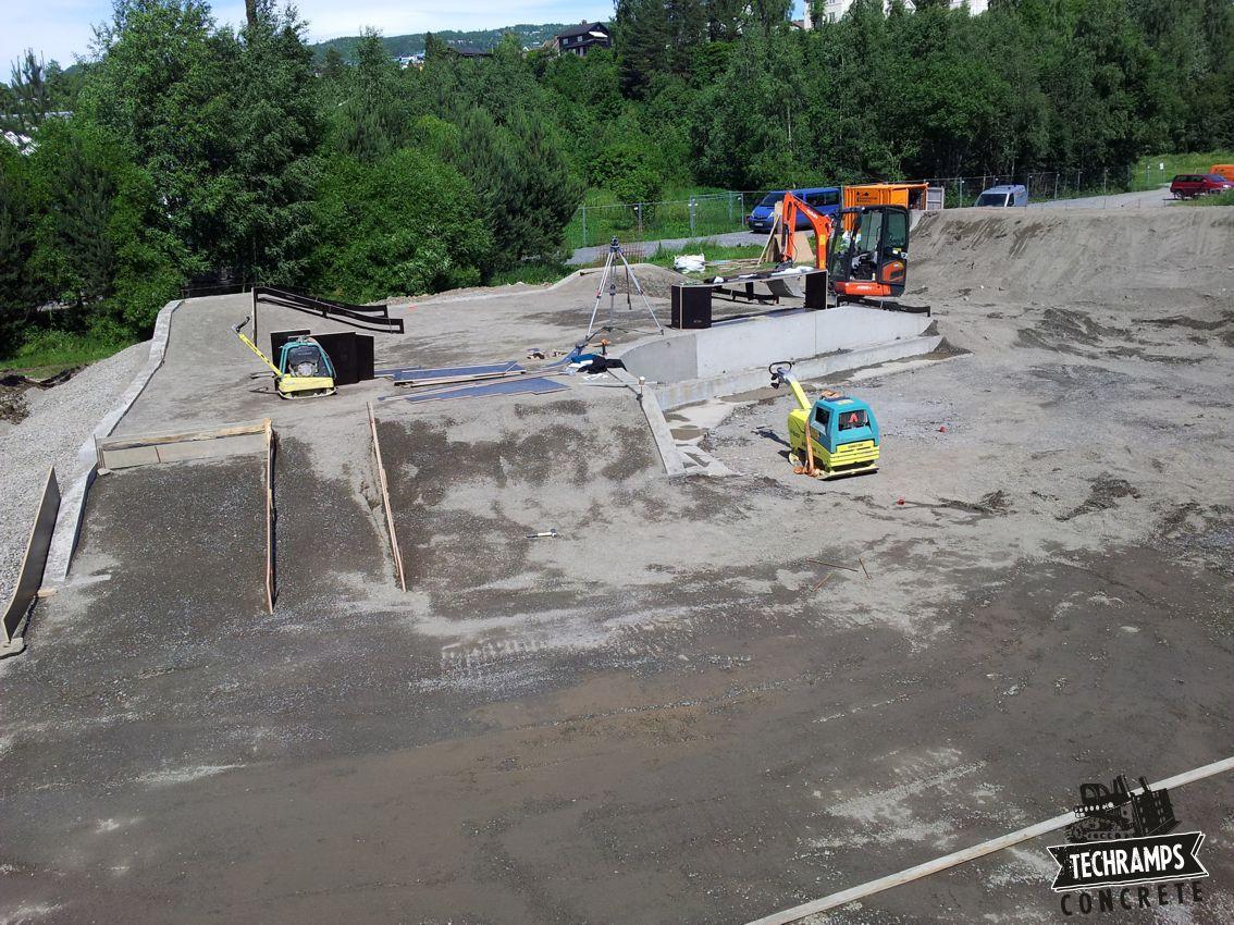 Budowa skateparku w Norwegii - Lillehammer
