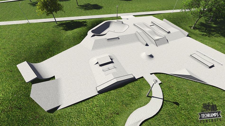 Mistrzejowice - projekt rozbudowy skateparku