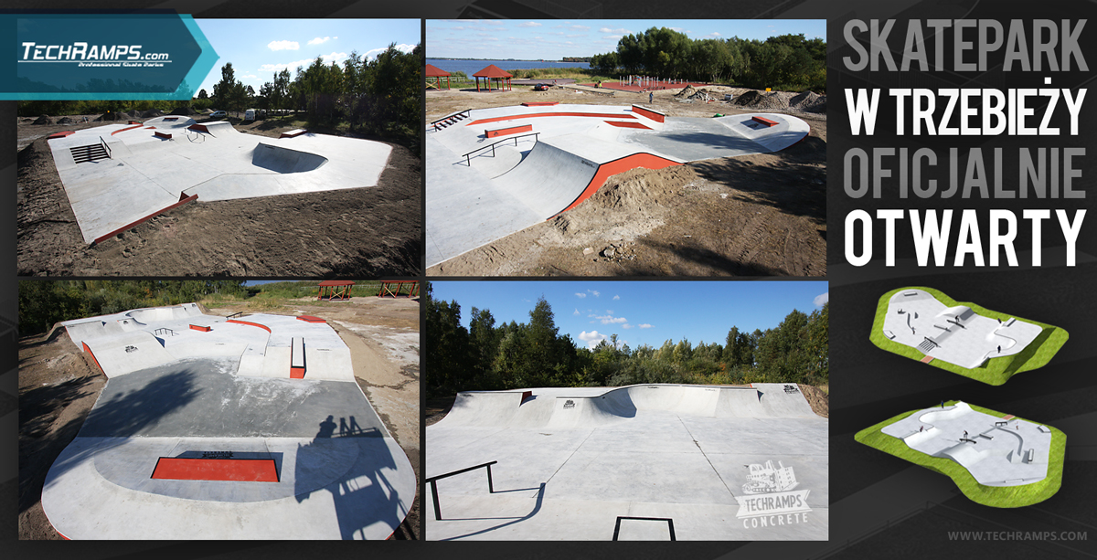 Betonowy Skatepark Trzebież - otwarcie
