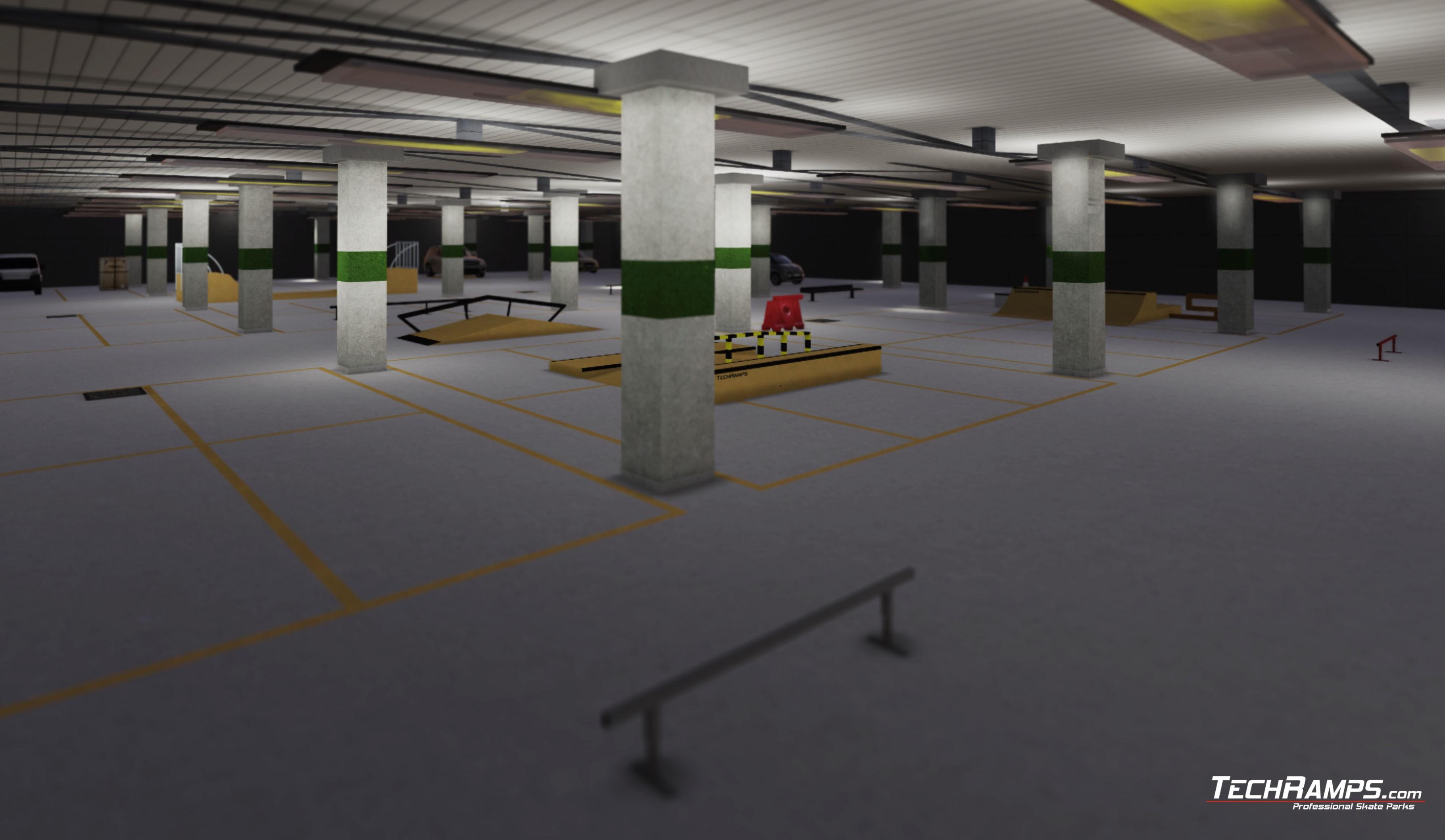 Projekt skateparku na Stadionie Narodowym Warszawa Techramps