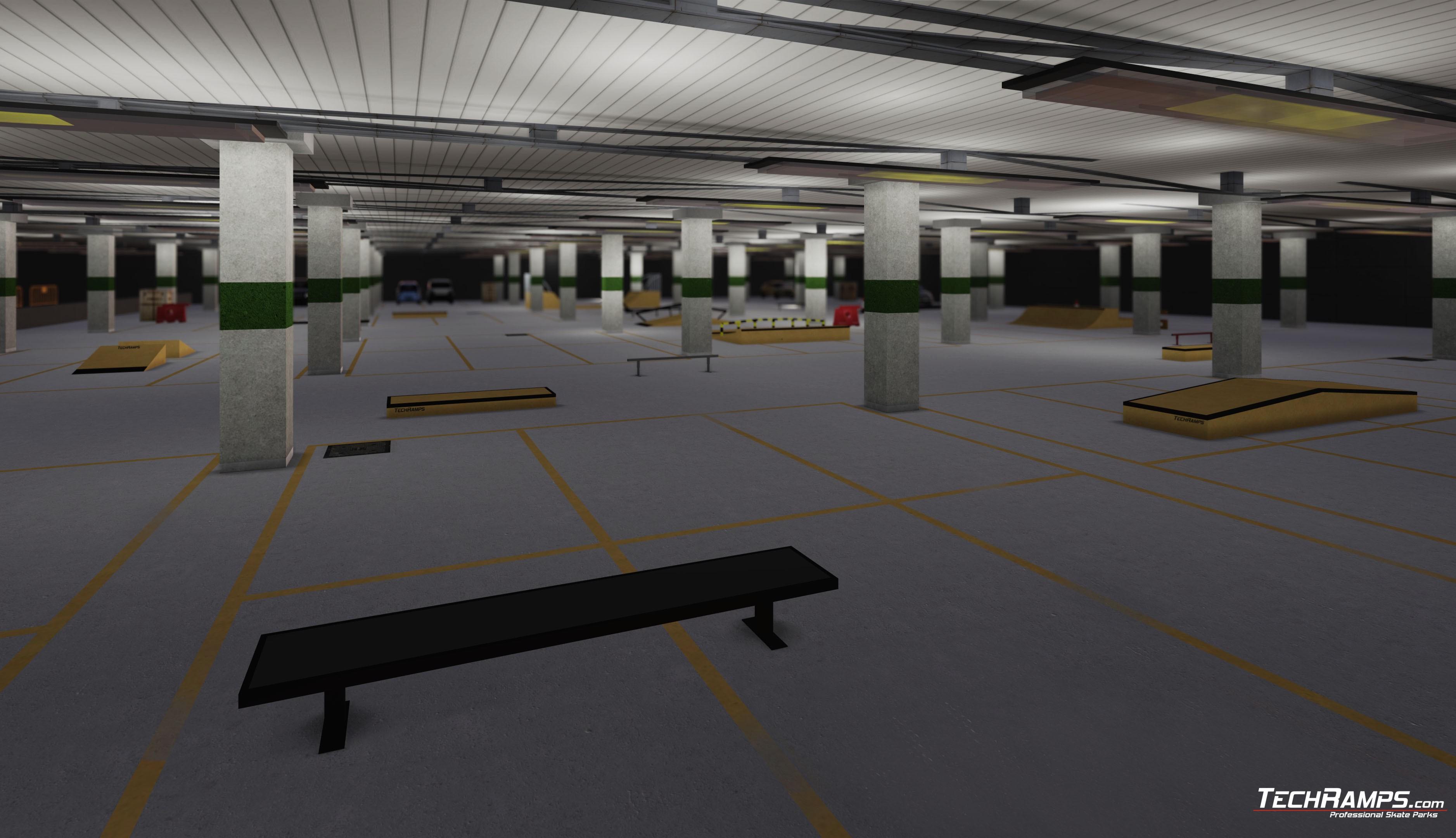 Wizualizacja skateparku - Stadion Narodowy