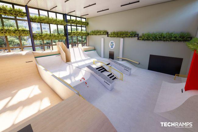 Indoor-Skatepark in Warschau - Woodpark