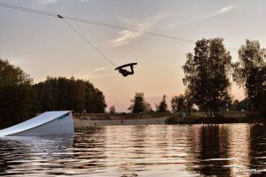 Kicker na wakeparku w Gliwicach