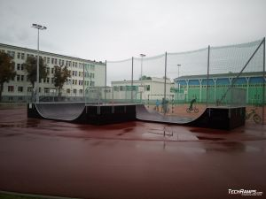 Mini Spin ramp on asphalt in Giżycko