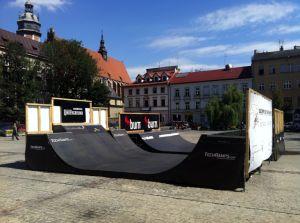 Minirampy na Placu Wolnica w Krakowie